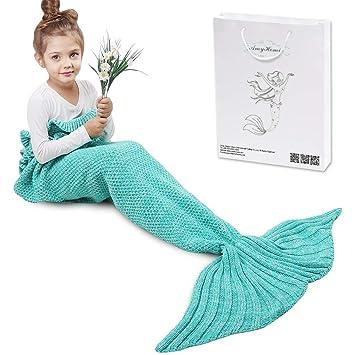 Meerjungfrau Decke Amyhomie Handgemachte Häkeln Meerjungfrau Flosse