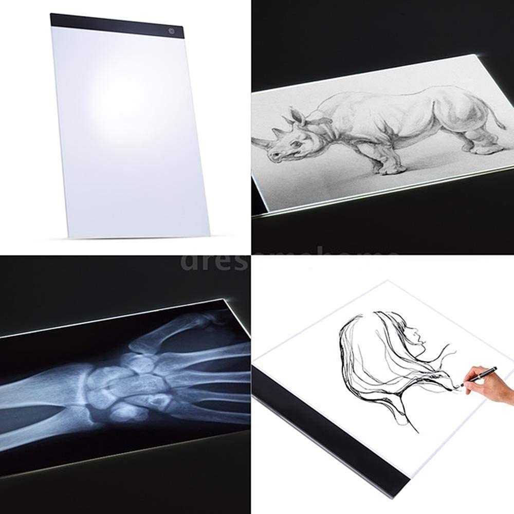 Sketching A4//A5 Adjustable Brightness Portable Led Artcraft Tracing Light Pad USB Power Sketch Pad for Animation Designing LAIYYI LED Light Box