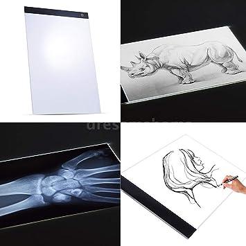 JUNCHUANG Tablero de luz Caja de luz de rastreo portátil, Pintura ...