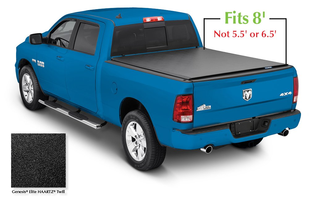 Lund 96863 Genesis Elite Roll Up Truck Bed Tonneau Cover for 2002-2018 Dodge Ram 1500; 2003-2018 Ram 2500, 3500 | Fits 8' Bed (Excludes Models w/RamBox) 3500 | Fits 8' Bed (Excludes Models w/RamBox)