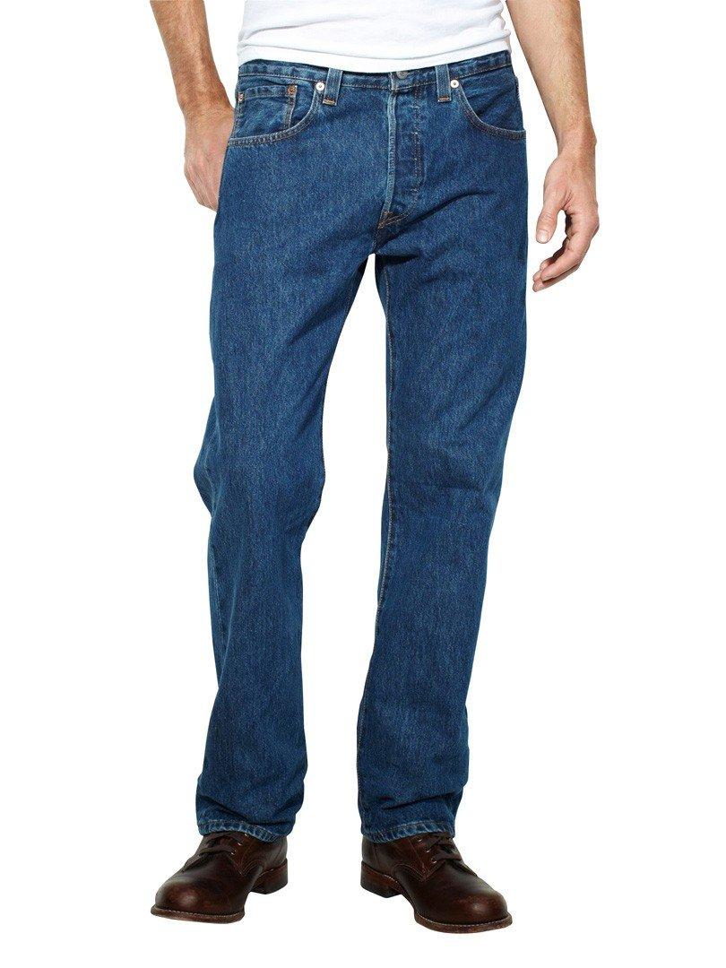44569cf706cba4 Galleon - Levi's Mens 501 Regular Straight-Leg Denim Jeans Blue Size 30  Length 34