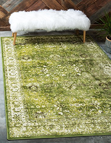 (Unique Loom Imperial Collection Modern Traditional Vintage Distressed Green Area Rug (4' 0 x 6')