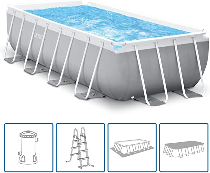 vidaXL Intex Prism Frame 26792GN - Set de Piscina (Rectangular ...