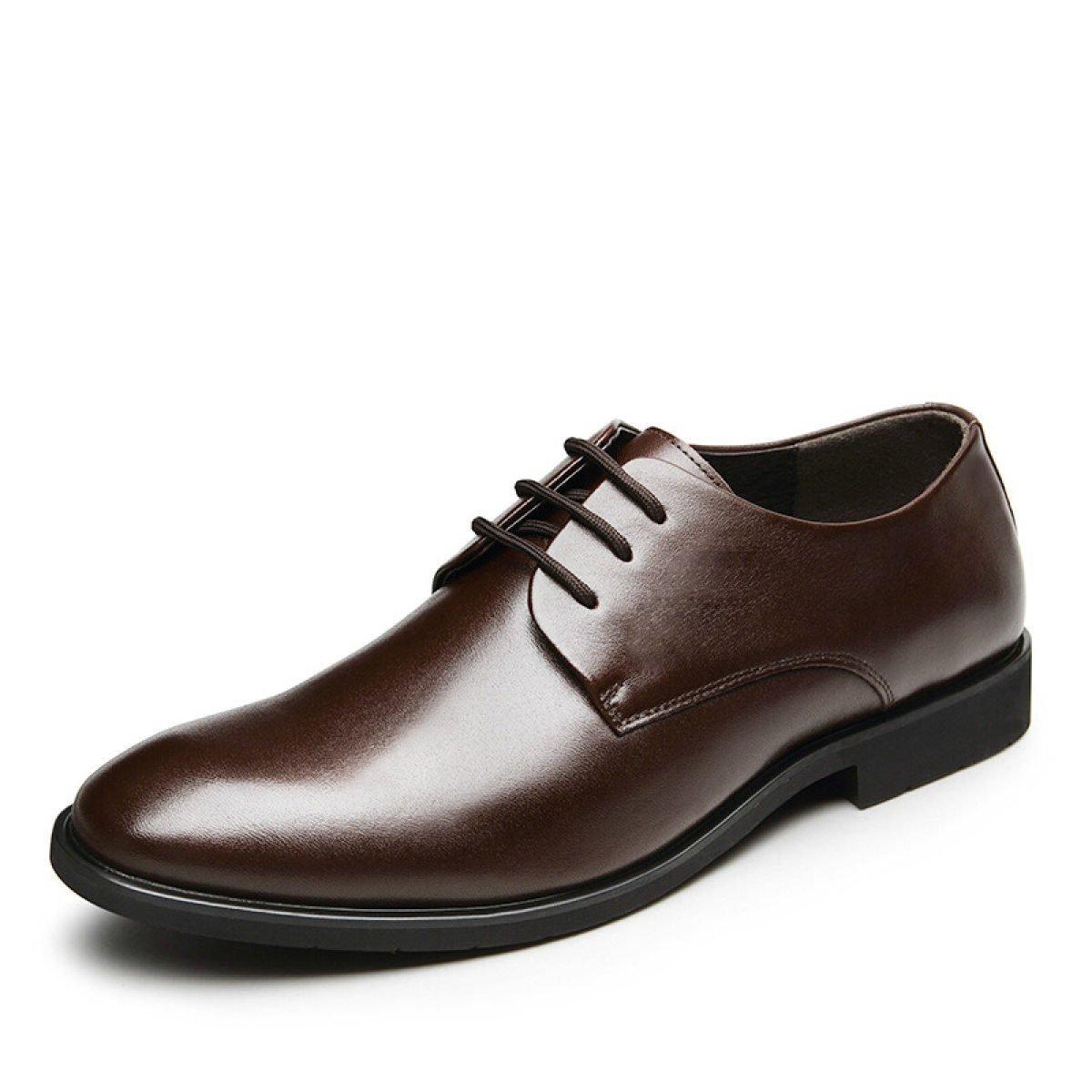 Hombres Capped Negro Cuero De Cadena De Cadena Zapatos,Black-44 44|Black Black