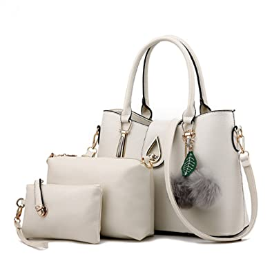 7f74fb2a9871 Fashion Ladies A Set Three Pieces Womens PU Leather Handbag Shoulder ...