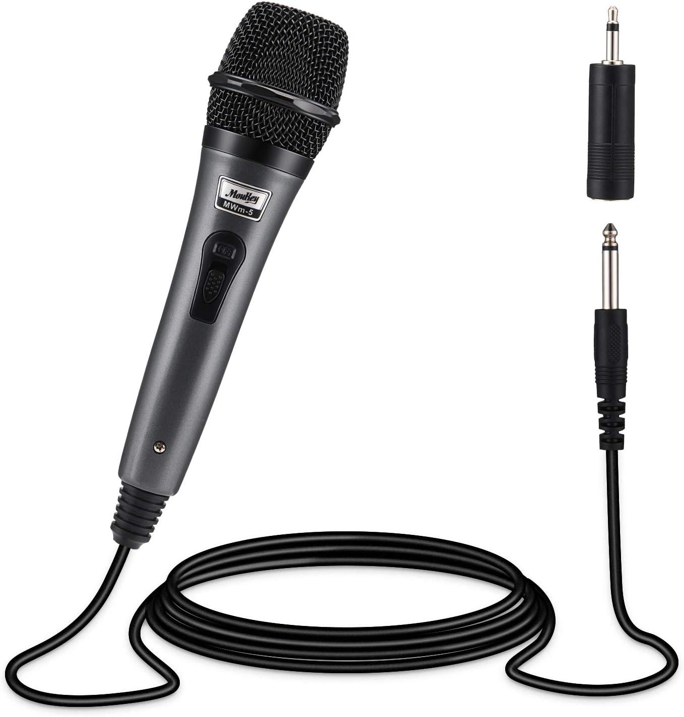 Monland Microfono DJ Dinamico Professionale per Mixer Microfono A Disco Dedicato Microfono KTV Bar A Collo DOca DJ Mic