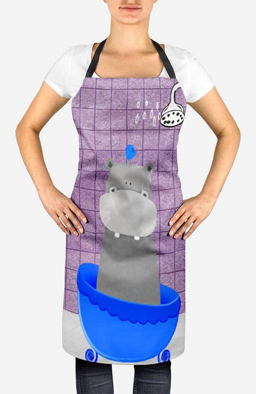 Timingila Purpura Dibujos Animados hipopótamo, bañera y Ducha ...