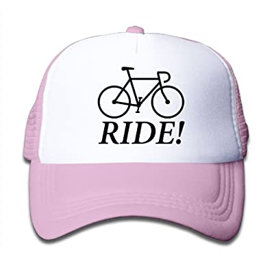 Bicycle Ride Mesh Hat Trucker Style Outdoor Sports Baseball Cap With Adjustable Snapback Strap For Kid's Pink