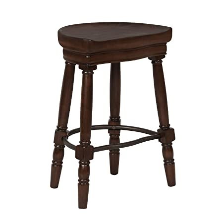 Bar Stool,Pub bar stool,Counter stool,Bar height stool,Kitchen island stool,Indoor stool, Count Height Pub Stool, Wooden Dining Kitchen Stool without Chairback Bistro, 26 Seat Hight,Cherry