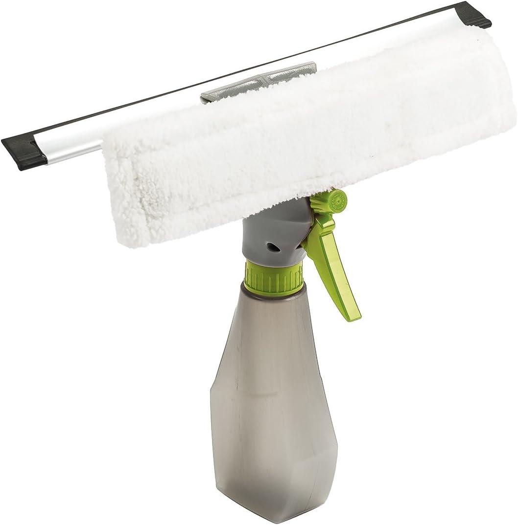 Gris//Verde 4home 801981/limpiador de ventanas con botella de spray integrada