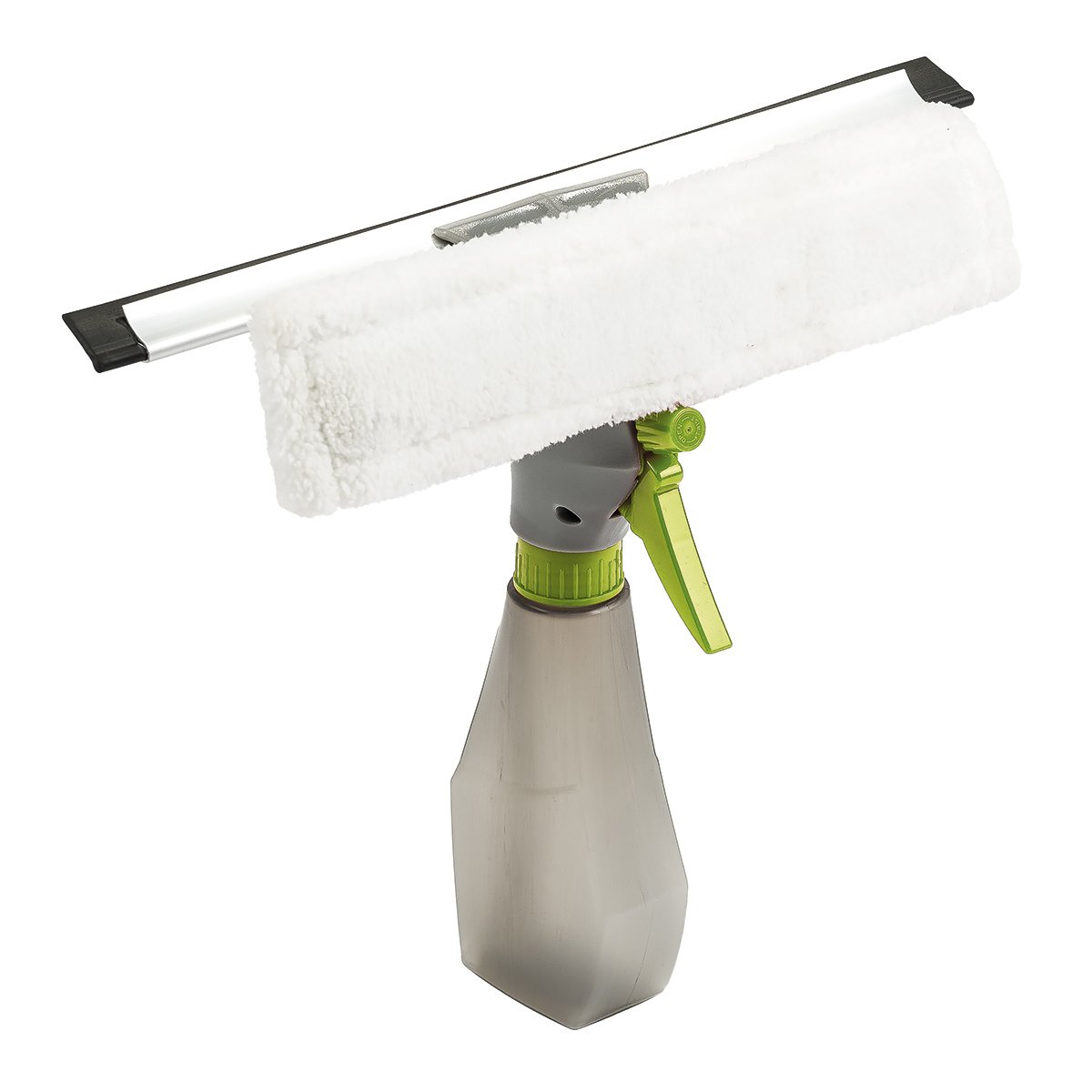 4home 801981pulitore per finestra con spruzzino integrata, colore: grigio/verde