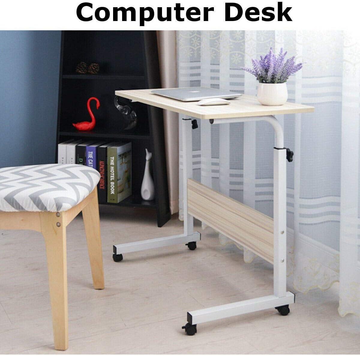 Amazon.com: Portable Office Desk Laptop Rolling Adjustable Table
