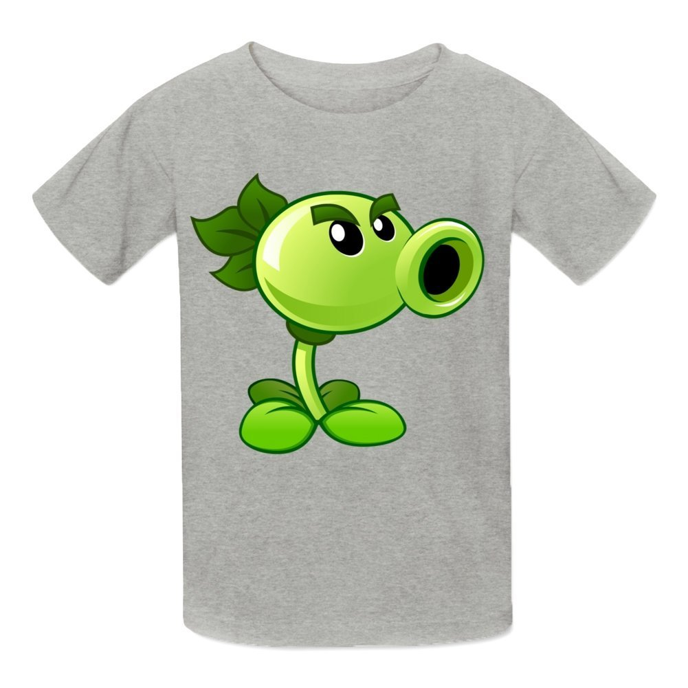 Top-Tshirt Boys' Plants Vs Zombies Peashooter Graphic Tees T-Shirts