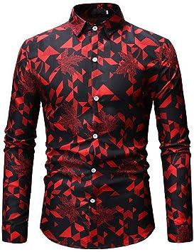 MKDLJY Camisas Camisa Hawaiana para Hombre Summer Beach 2019 Marca de Manga Larga y Camisas Florales Tamaño Europeo M-3Xl 26 Hombres de Color Ropa Camisas: Amazon.es: Deportes y aire libre