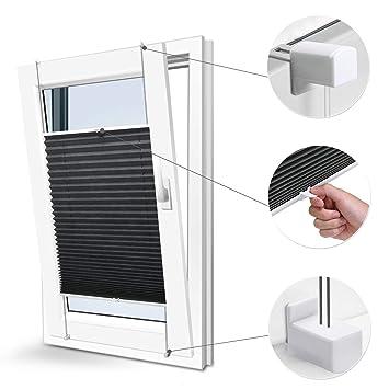 Extrem Plissee Rollos für Fenster ohne Bohren verdunkelung Easyfix ZJ56