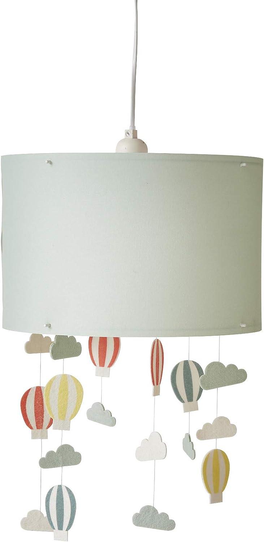 Vertbaudet - Pantalla para lámpara colgante de globos, verde aguamarina, Talla única