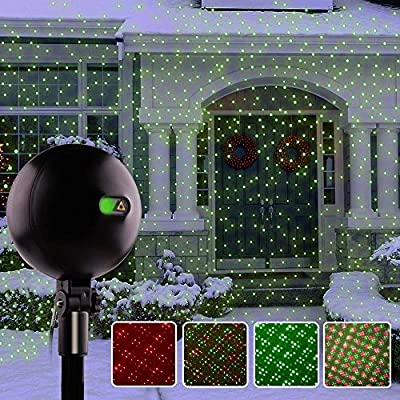 Christmas Lights Landscape Spotlights Waterproof Outdoor Xmas Light for Halloween Patio Yard Garden with Remote Controller (Color Changing)