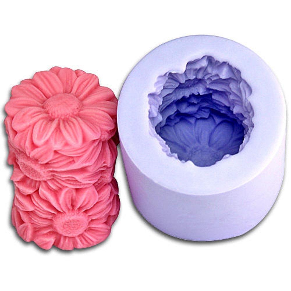Inception Pro Infinite stampi in silicone per uso artigianale di cilindrico con fiori di margherita - adatto anche per le candele Exsyn Di Tozzi Stefano