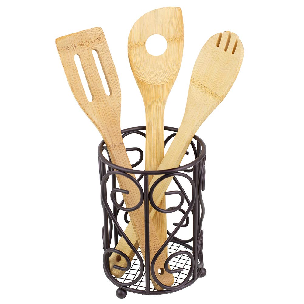 Home Basics Scroll Collection Cutlery Holder