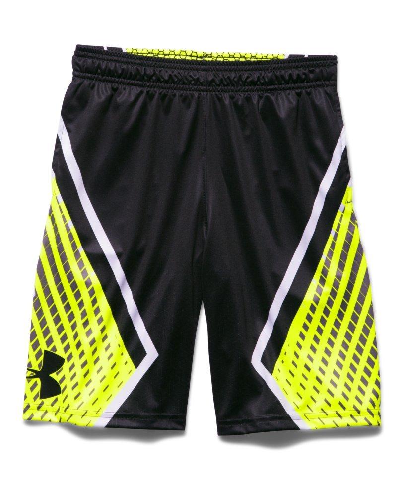 Under Armour Boys ' UA Undeniableバスケットボールショーツ B013XJKK3Q Black/Yellow Youth X-Small