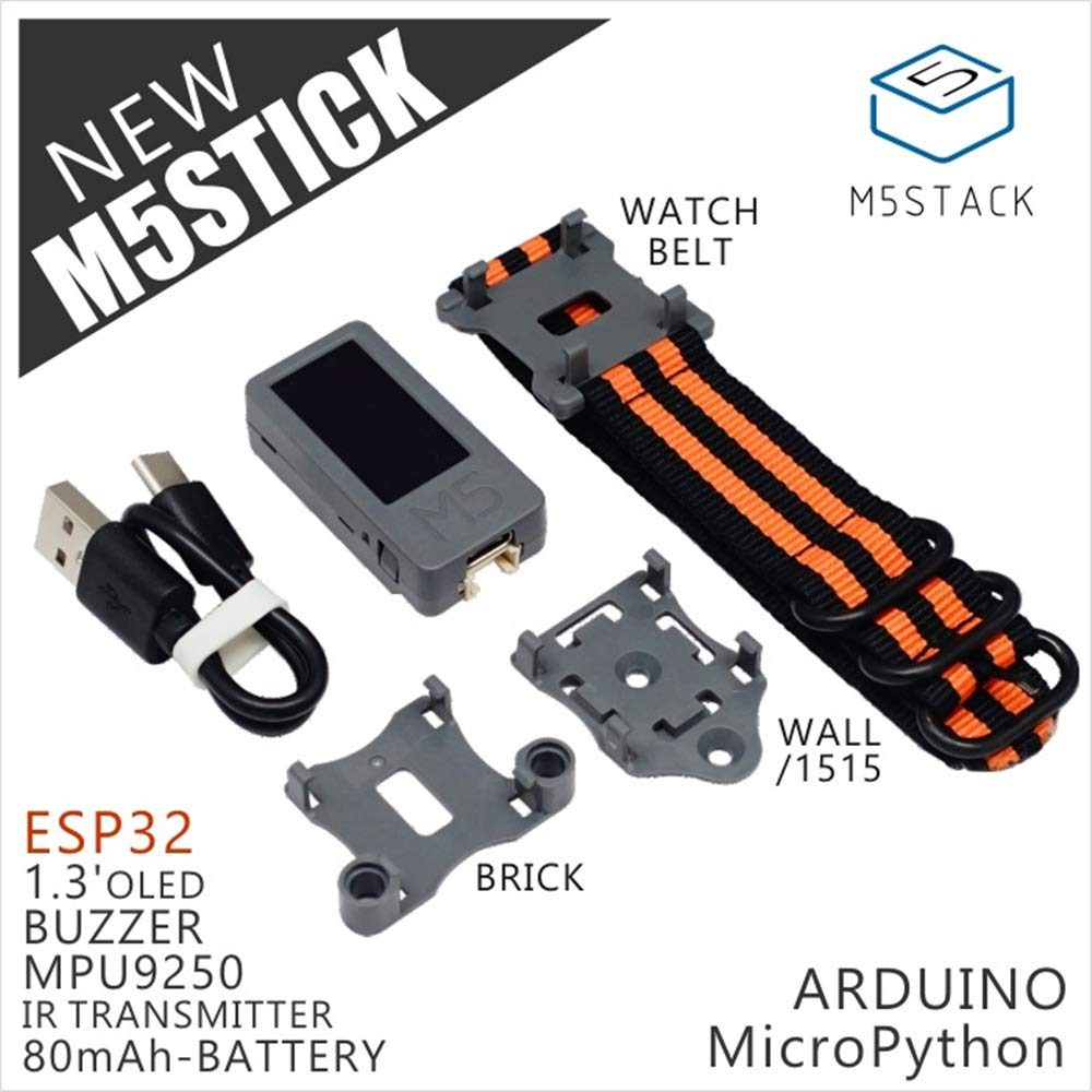 M5Stack New M5Stick Mini Development Kit ESP32 1.3'OLED 80mAh Battery Inside Buzzer IR Transmitter Mpu9250 Optional