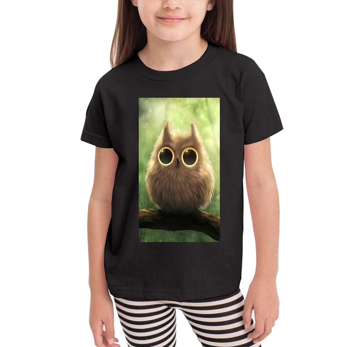 Kawaii Owl Eyes 100/% Organic Cotton Toddler Baby Boys Girls Kids Short Sleeve T Shirt Top Tee Clothes 2-6 T