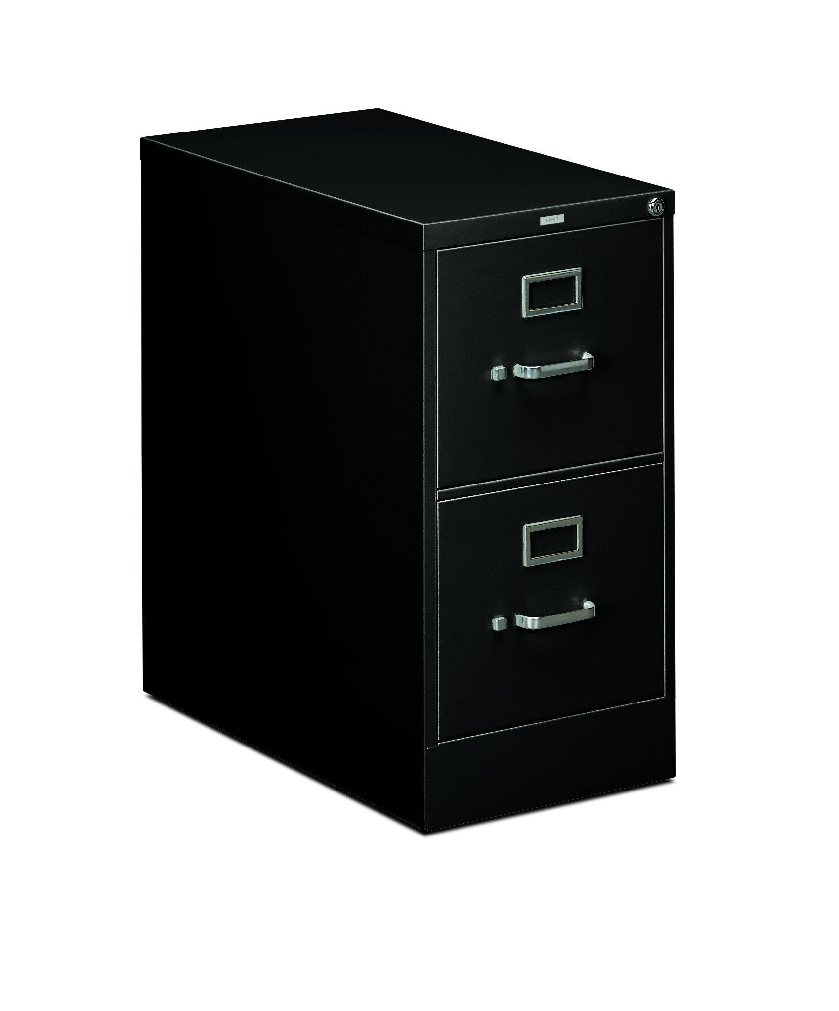 HON 2-Drawer Office Filing Cabinet - 310 Series Full-Suspension Letter File Cabinet, 26.5''D, Black (H312) by HON