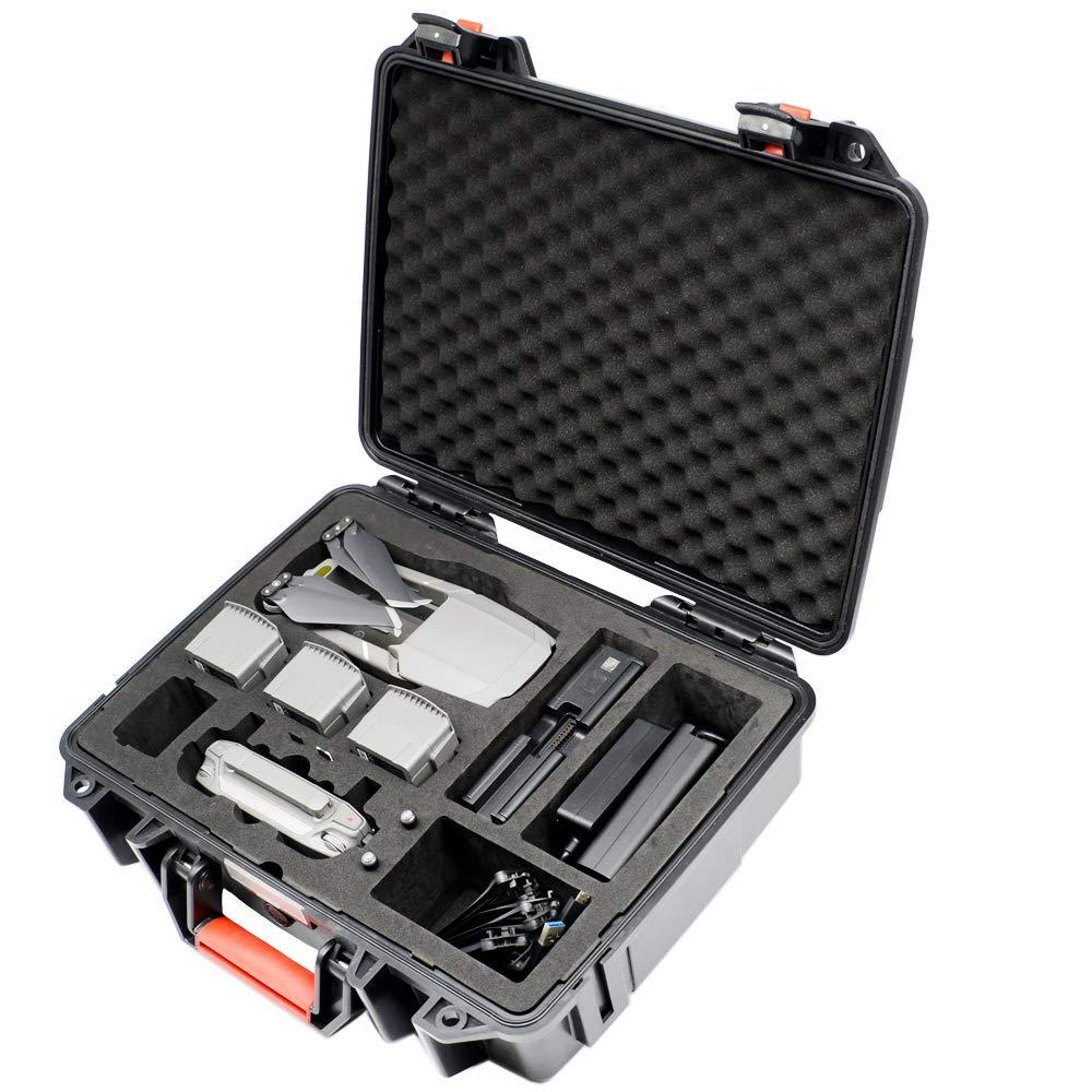 Lekufee Waterproof Case for Mavic 2, Large-Capacity Hard Carrying Case Compatible for Mavic 2 Pro/Mavic 2 Zoom/Mavic 2 Enterprise Fly More Combo