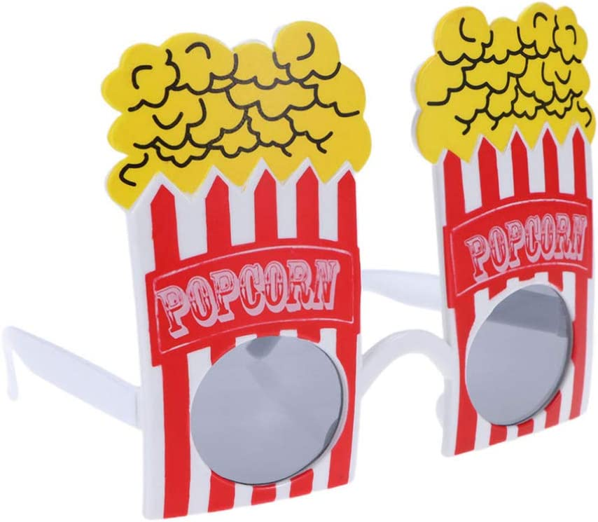 Amosfun Gafas de Disfraces de Fiesta Gafas con Forma de plástico Gafas de Sol de Palomitas de maíz Gafas de fotomatón Fiesta de Carnaval de cumpleaños de Navidad: Amazon.es: Productos para mascotas