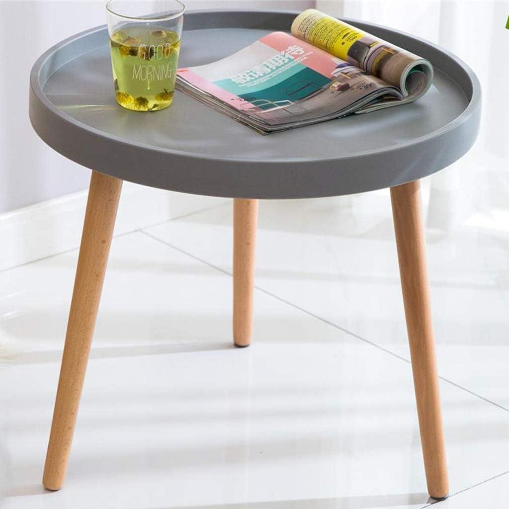 Verzending Over De Hele Wereld MBZL Bijzettafel, koffietafel, kleine houten bijzettafeltjes, moderne bureau-sofa, eind tafels, eiken, ronde salontafels voor woonkamer grijs uEAPQTP