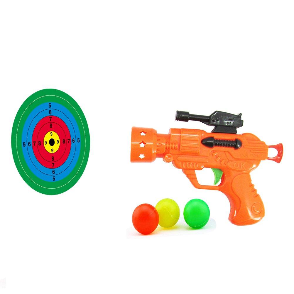 YeahiBaby Jouet de Pistolet en Plastique de Ping-Pong Couleur Al/éatoire