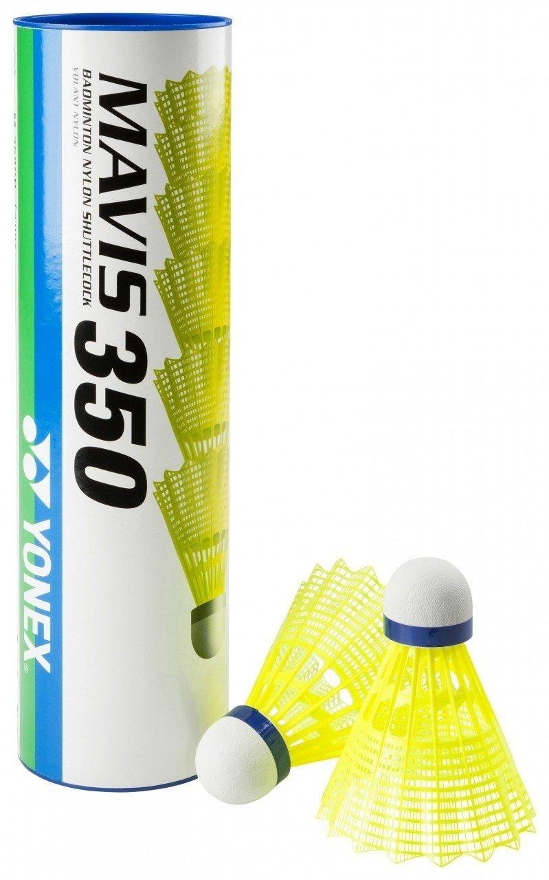 Yonex Mavis 350 Plastic shuttlecocks (White 4 Tubes)