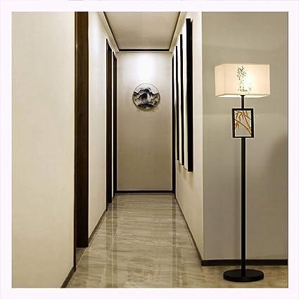 DUOMING Lámpara de pie Chino Clásico Salón Dormitorio ...