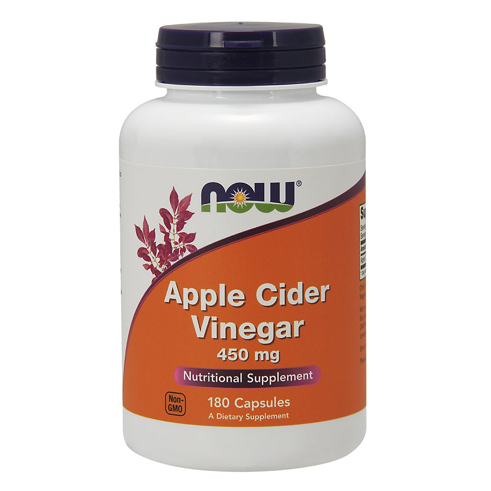 NOW Foods Apple Cider Vinegar High Potency -- 450 mg - 180 Capsules