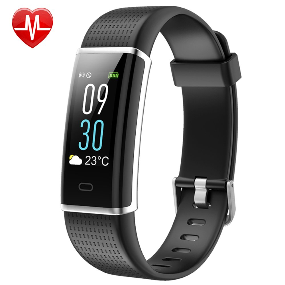 Willful Fitness Tracker Color Screen, Activity Tracker Fitness Watch Heart Rate Monitor Pedometer Watch IP68 Waterproof with Sleep Monitor Step Counter Multi-sport Mode for Men Women Kid (Black)