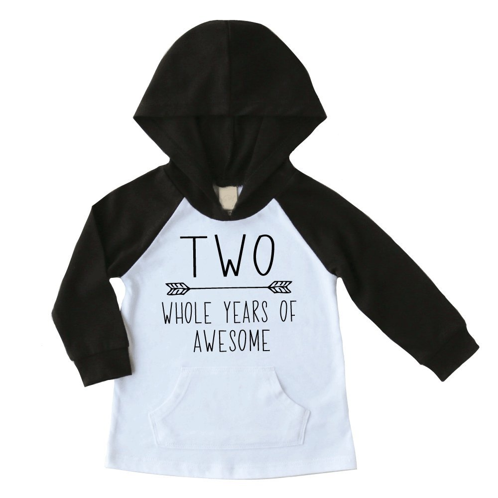 Bump And Beyond Designs 2nd Birthday Boy Shirt Second Outfit Hoodie Black 3T