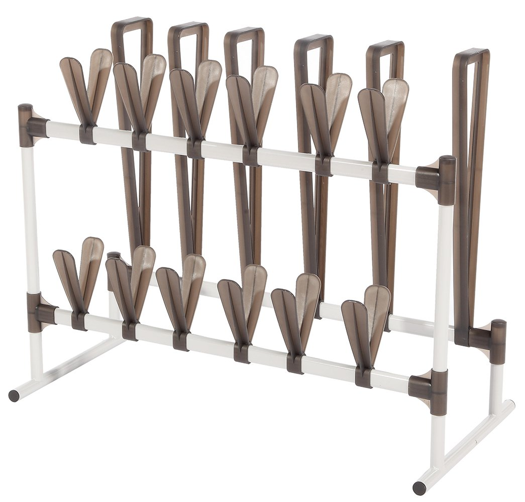 STORAGE MANIAC Shoe and Boot Organizer, Space Saving Shoe Rack for 12 Pairs of Shoes and 3 Pairs of Boots