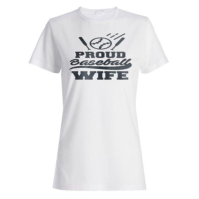 Orgullosa Esposa De Béisbol camiseta de las mujeres t282f: Amazon.es: Ropa y accesorios