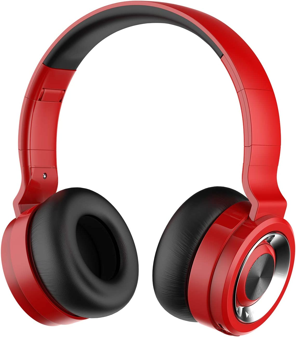 Alitoo Auriculares Bluetooth de Diadema Inalámbricos, Cascos Bluetooth Plegable Wireless Headphones Over Ear con Micrófono para TV, PC, Tablet, Móvil (Rojo)