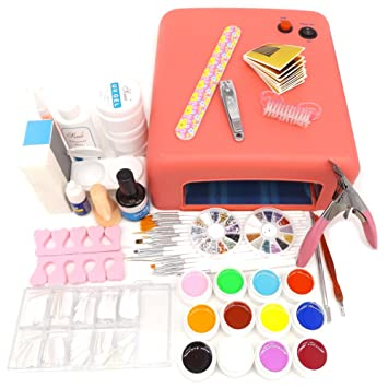 Amazon Warm Girl 25 In 1 Professional Nail Art Set 12 Color