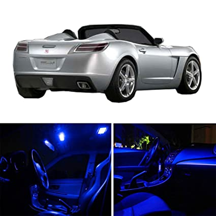CCIYU For Saturn Sky 2007 2009 Package Kit Blue LED Interior Light  Accessories Replacement Parts