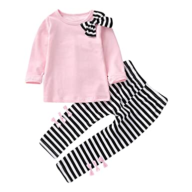 8e717c672367 Amazon.com  Yalasga 2019 New Toddler Girl Kids Clothes Long Sleeve ...