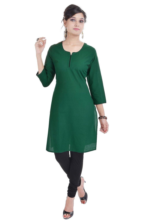 Vihaan Impex Tunika Damen Kleidung Damen indische Kleidung Kurta Damen indische Tunika Damen Tunika VIKU2394_M