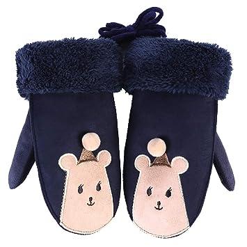 KDSANSO Guantes de Forro Polar para niñas y niños con diseño ...