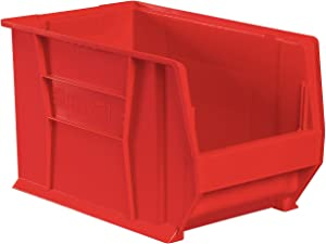 Akro-Mils 30282 20-Inch D by 12-Inch W by 12-Inch H Super Size Plastic Stacking Storage Akro Bin, Red, Case of 2