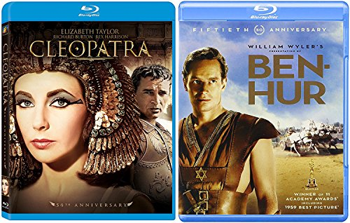 Ben-Hur Original + Cleopatra 50th Anniversary Edition Blu Ray Double Epic Movie Set
