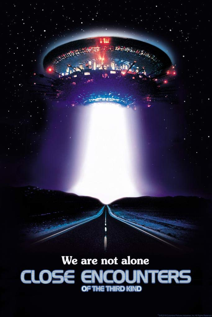 Close Encounters of The Third Kind We are Not Alone UFO Movie Poster 24x36 Inch