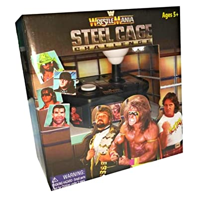 WWE Wrestlemania Steel Cage Challenge 25th Anniversary Plug Play Game: Video Games