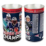 New England Patriots Waste Basket Tapered Players Super Bowl 51 Champions Design