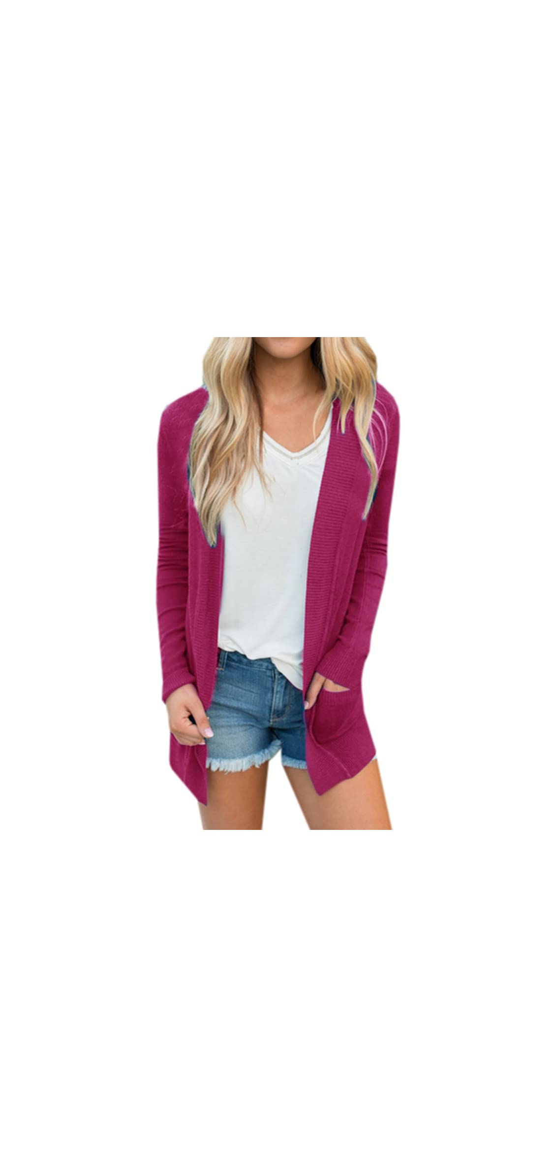 Womens Cardigans Fall Casual Long Sweaters Open Front Knit
